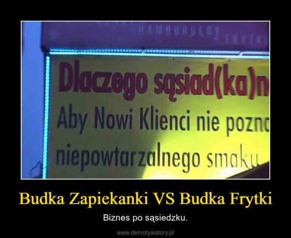 Budka Zapiekanki VS Budka Frytki – Biznes po sąsiedzku.