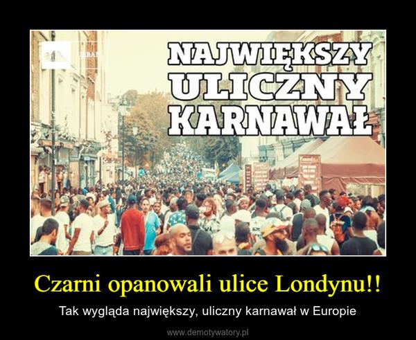 Czarni opanowali ulice Londynu!! – Tak wygląda największy, uliczny karnawał w Europie
