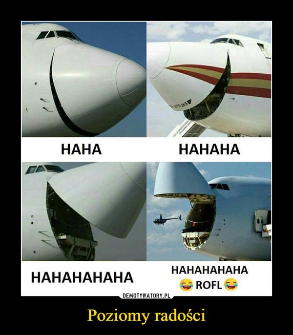Poziomy radości –  hahaha haha rotfl