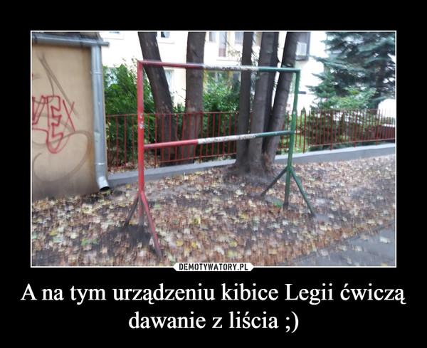 A na tym urządzeniu kibice Legii ćwiczą dawanie z liścia ;) –