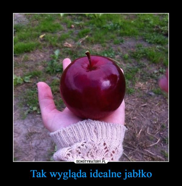 Tak wygląda idealne jabłko –