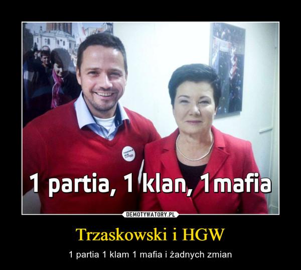 Trzaskowski i HGW – 1 partia 1 klam 1 mafia i żadnych zmian