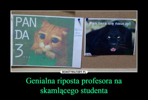 Genialna riposta profesora na skamlącego studenta –
