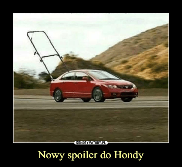 Nowy spoiler do Hondy –