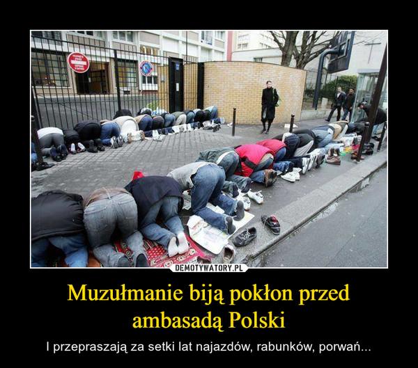 Muzułmanie biją pokłon przed ambasadą Polski – I przepraszają za setki lat najazdów, rabunków, porwań...