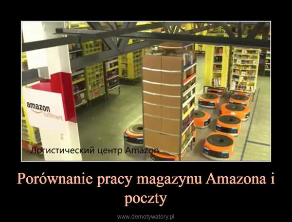 Porównanie pracy magazynu Amazona i poczty –