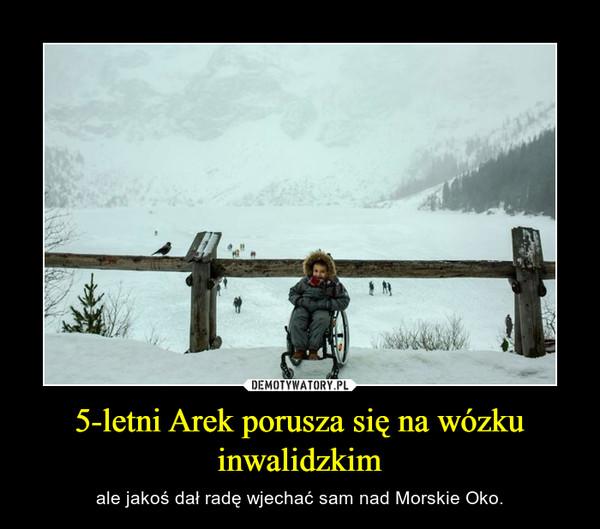 5-letni Arek porusza się na wózku inwalidzkim – ale jakoś dał radę wjechać sam nad Morskie Oko.