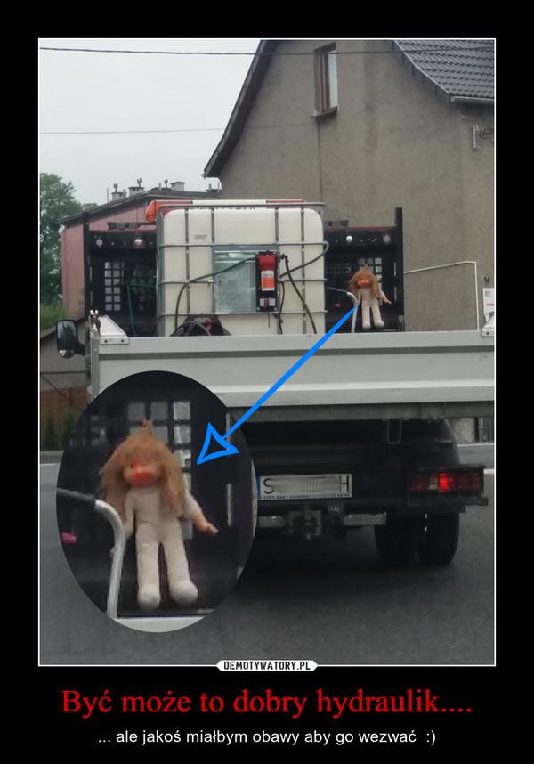 Być może to dobry hydraulik.... – ... ale jakoś miałbym obawy aby go wezwać  :)