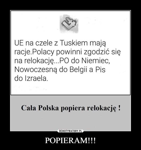 POPIERAM!!! –