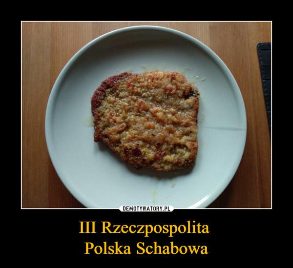 III Rzeczpospolita Polska Schabowa –