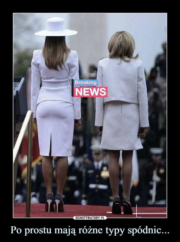 Po prostu mają różne typy spódnic... –  Breaking news