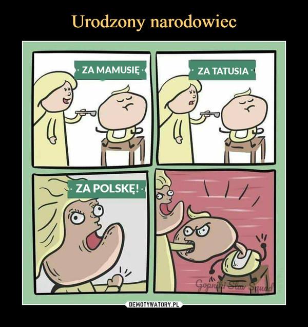 –  za mamusięza tatusiaza polskę