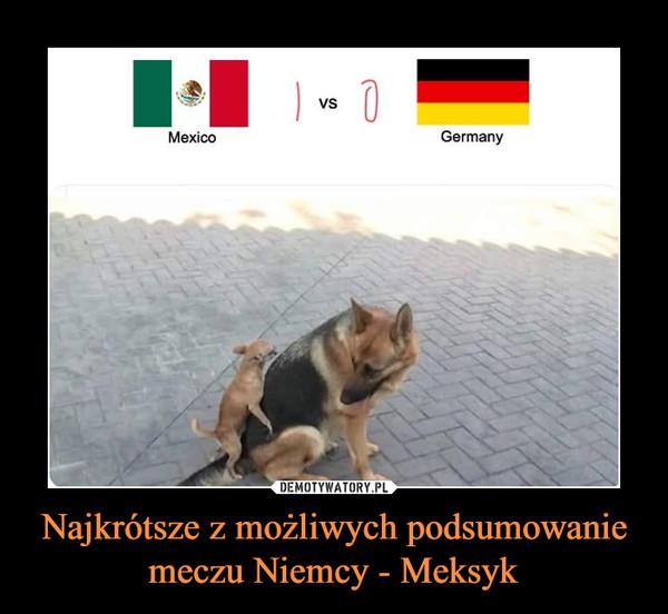 Najkrótsze z możliwych podsumowanie meczu Niemcy - Meksyk –