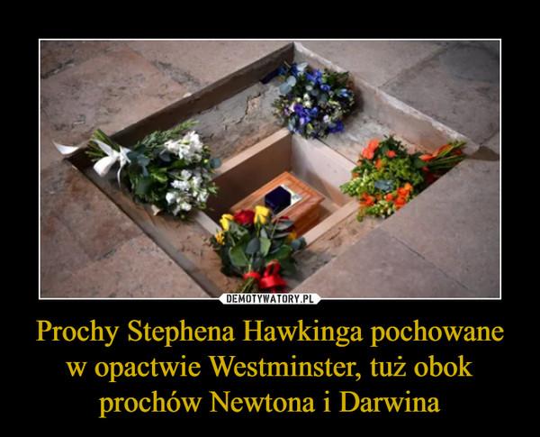 Prochy Stephena Hawkinga pochowane w opactwie Westminster, tuż obok prochów Newtona i Darwina –