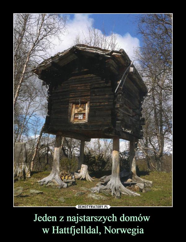 Jeden z najstarszych domów w Hattfjelldal, Norwegia –
