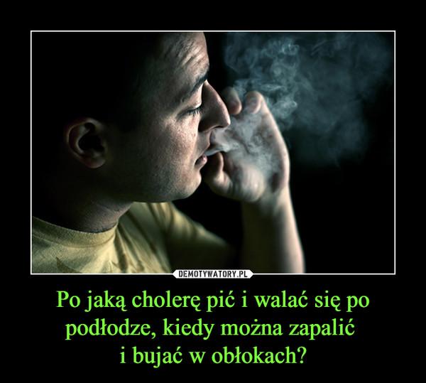 Po jaką cholerę pić i walać się po podłodze, kiedy można zapalić i bujać w obłokach? –