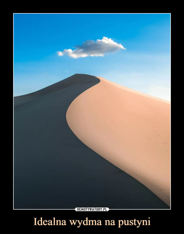 Idealna wydma na pustyni –