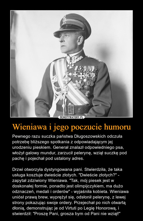 Wieniawa i jego poczucie humoru