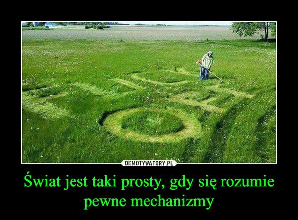 Świat jest taki prosty, gdy się rozumie pewne mechanizmy –