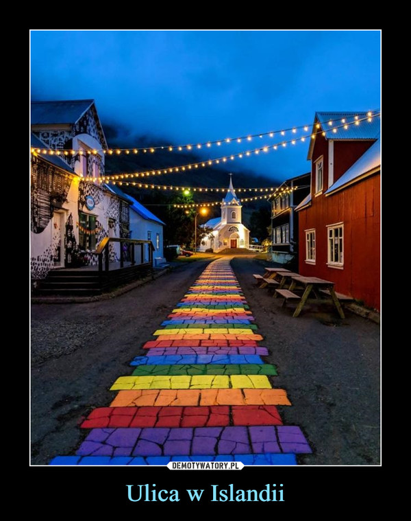 Ulica w Islandii –