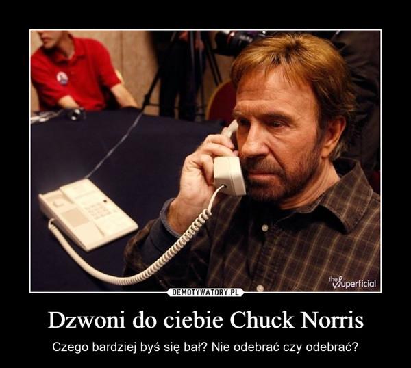 Dzwoni do ciebie Chuck Norris – Czego bardziej byś się bał? Nie odebrać czy odebrać?