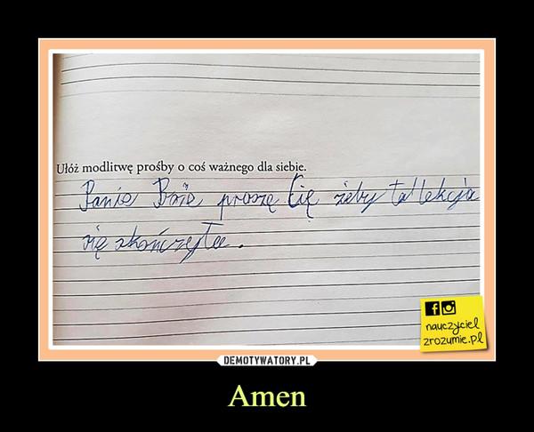Amen –