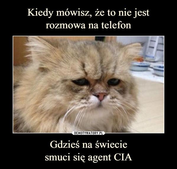 Gdzieś na świeciesmuci się agent CIA –