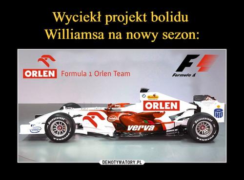 Wyciekł projekt bolidu  Williamsa na nowy sezon: