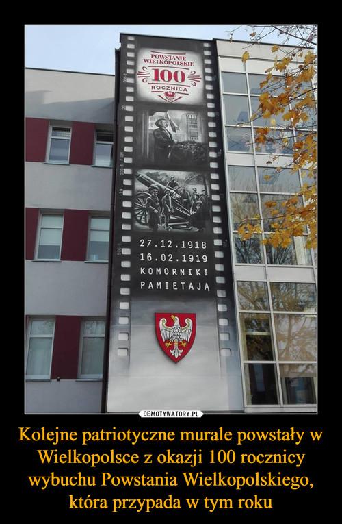Kolejne patriotyczne murale powstały w Wielkopolsce z okazji 100 rocznicy wybuchu Powstania Wielkopolskiego, która przypada w tym roku