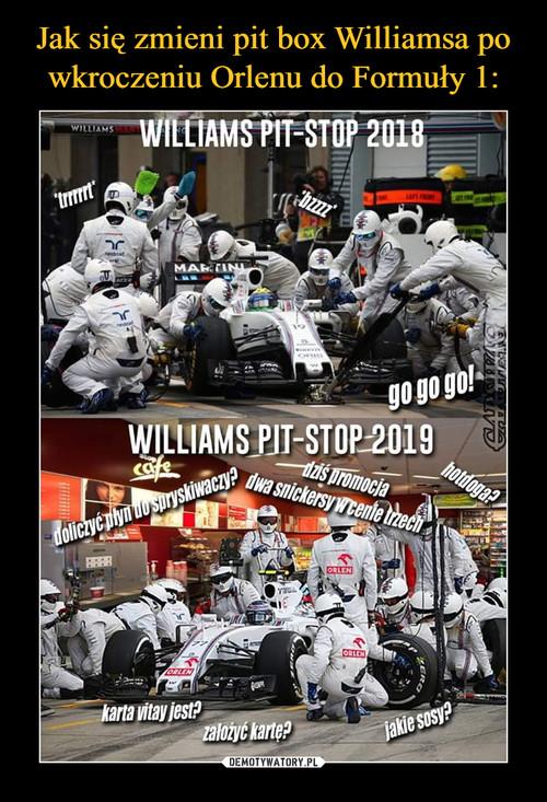 Jak się zmieni pit box Williamsa po wkroczeniu Orlenu do Formuły 1: