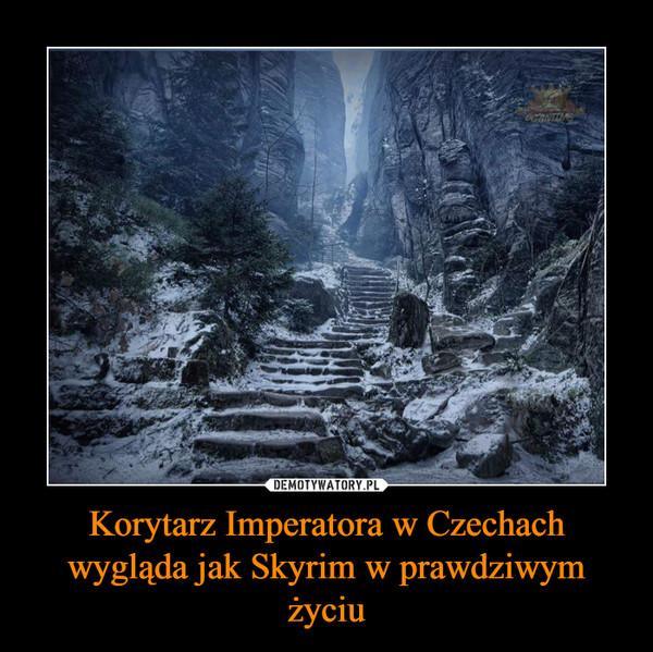Korytarz Imperatora w Czechach wygląda jak Skyrim w prawdziwym życiu –