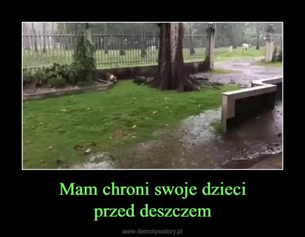 Mam chroni swoje dzieciprzed deszczem –