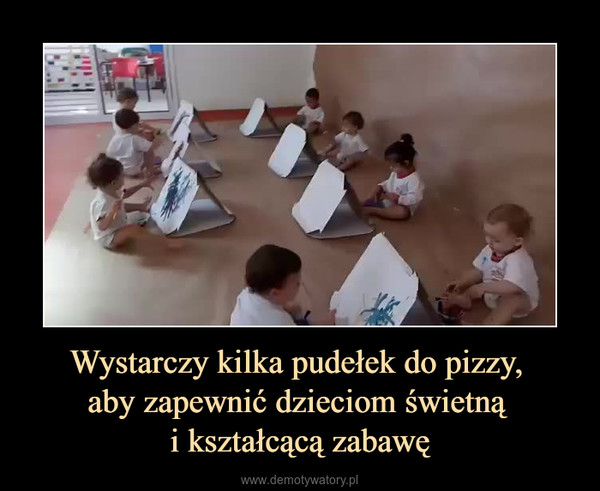 Wystarczy kilka pudełek do pizzy, aby zapewnić dzieciom świetną i kształcącą zabawę –