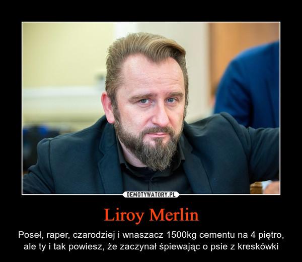 Liroy Merlin – Poseł, raper, czarodziej i wnaszacz 1500kg cementu na 4 piętro, ale ty i tak powiesz, że zaczynał śpiewając o psie z kreskówki