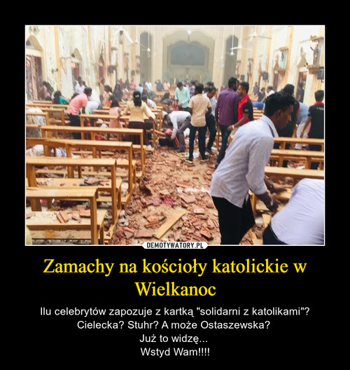 Zamachy na kościoły katolickie w Wielkanoc
