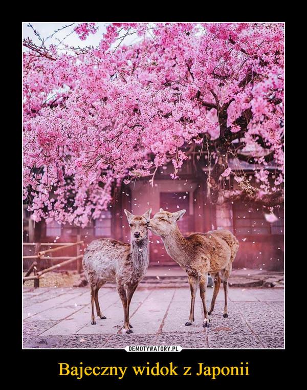 Bajeczny widok z Japonii –