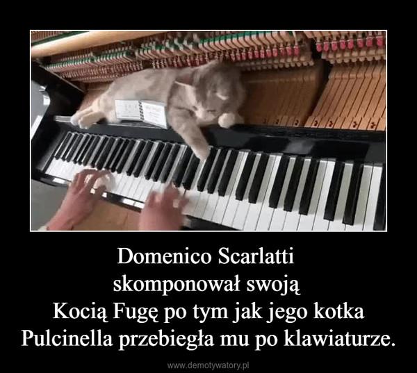 Domenico Scarlatti skomponował swoją Kocią Fugę po tym jak jego kotka Pulcinella przebiegła mu po klawiaturze. –