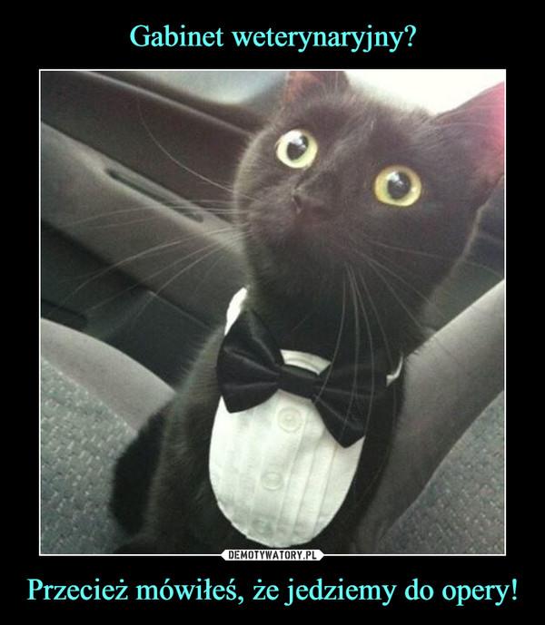 Przecież mówiłeś, że jedziemy do opery! –