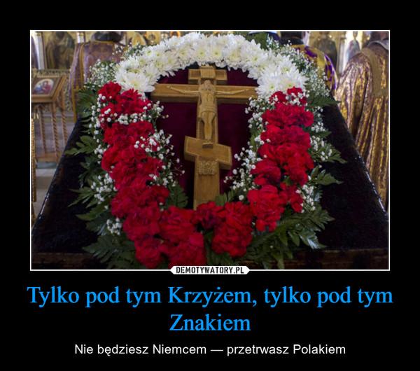 Tylko pod tym Krzyżem, tylko pod tym Znakiem – Nie będziesz Niemcem — przetrwasz Polakiem