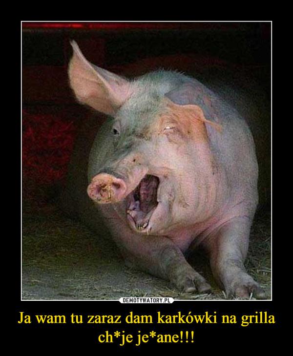 Ja wam tu zaraz dam karkówki na grilla ch*je je*ane!!! –