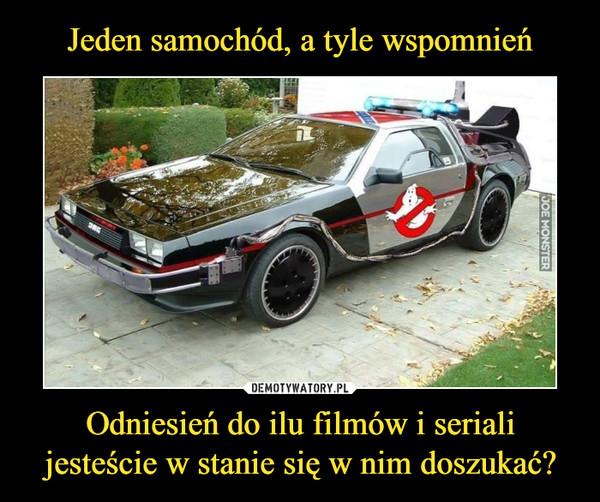 Jeden samochód, a tyle wspomnień Odniesień do ilu filmów i seriali jesteście w stanie się w nim doszukać?