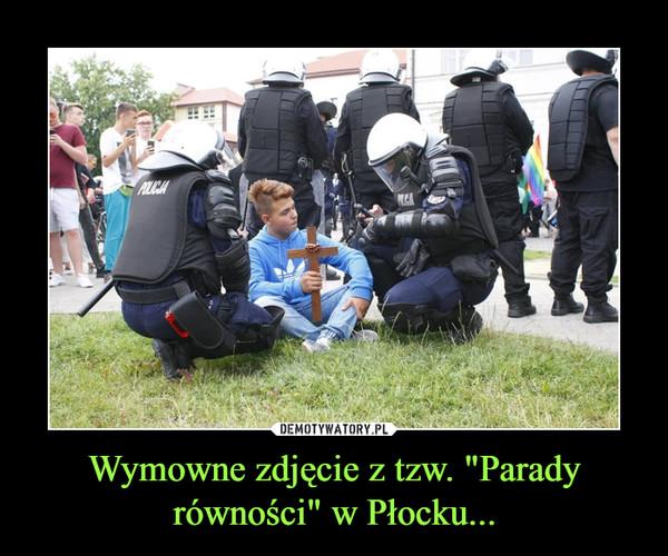 """Wymowne zdjęcie z tzw. """"Parady równości"""" w Płocku... –"""