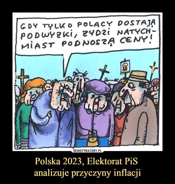 Polska 2023, Elektorat PiS analizuje przyczyny inflacji –  GDY TYLKO POLACY DOSTAJĄ PODWYŻKI, ŻYDZI NATYCHMIAST PODNOSZĄ CENY!
