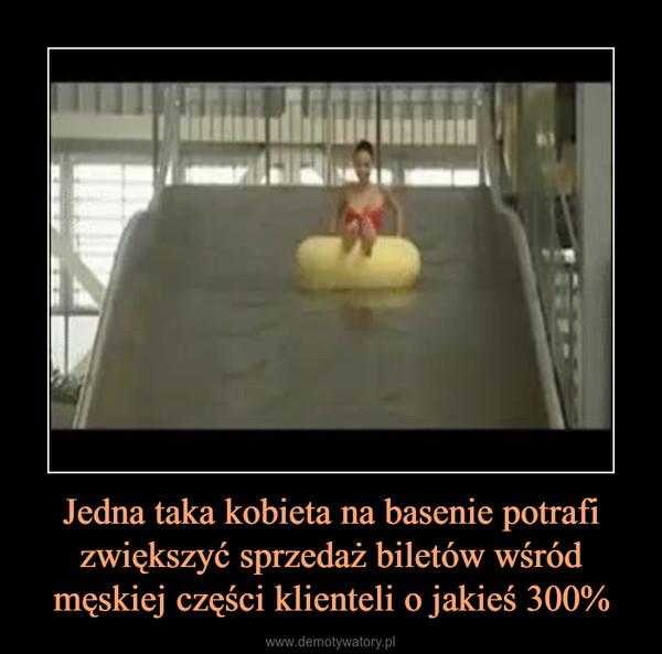 Jedna taka kobieta na basenie potrafi zwiększyć sprzedaż biletów wśród męskiej części klienteli o jakieś 300% –