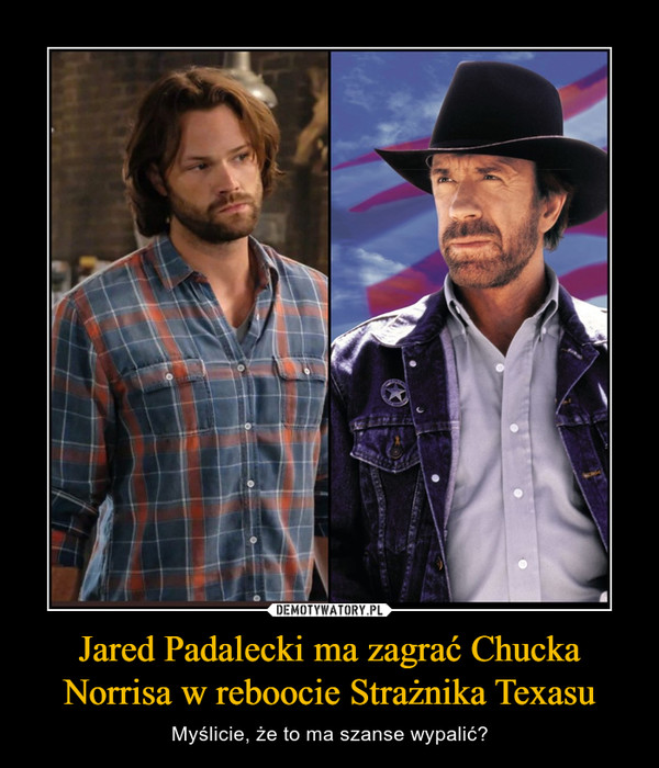 Jared Padalecki ma zagrać Chucka Norrisa w reboocie Strażnika Texasu – Myślicie, że to ma szanse wypalić?