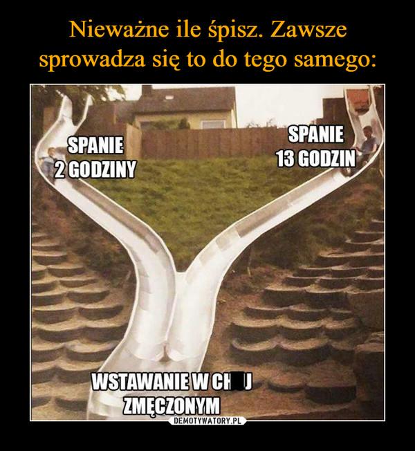 –  SPANIE 2 GODZINYSPANIE 13 GODZINWSTAWANIE W CHUJ ZMĘCZONYM