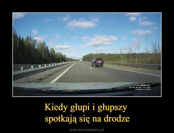 Kiedy głupi i głupszy spotkają się na drodze –
