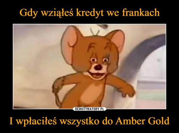 I wpłaciłeś wszystko do Amber Gold –