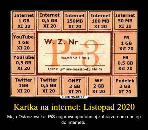 Kartka na internet: Listopad 2020