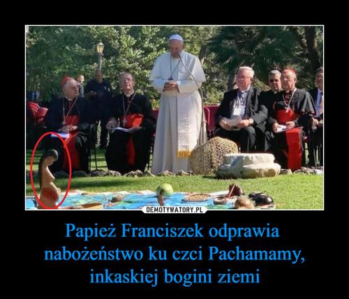 Papież Franciszek odprawia  nabożeństwo ku czci Pachamamy, inkaskiej bogini ziemi